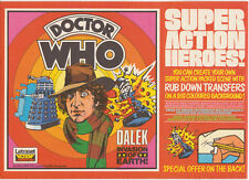 Giga-rare: UNUSED Letraset Doctor Who transfer set, 1976.  VGC. % to charity do.