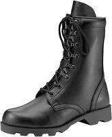 Black Leather Speedlace Military Combat Boots