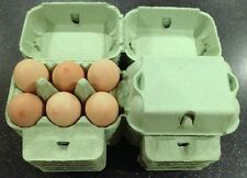 50 x 1/2 DOZEN CARDBOARD EGG CARTONS GREEN COLOUR BOXES CHICKEN HEN EGGS