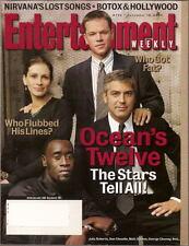 Ocean's Twelve Entertainment Weekly Dec 2004 George Clooney Matt Damon Cheadle