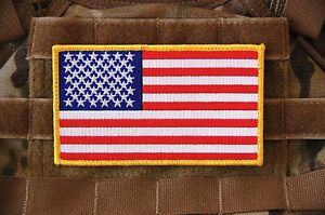 """Large 3""""x5"""" AMERICAN FLAG USA ARMY BACKPACK SOCOM CAG Navy SEAL NSW PATCH"""