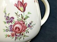 "Household Institute Homer Laughlin Priscilla Floral Pottery Pitcher 5.5"" Tall"