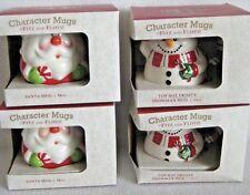 Fitz and Floyd Christmas Mug Set Of 4 Santa And Snowman Bunco