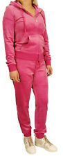 Juicy Couture Robertson Tracksuit Set Rasberry Pink Velor Size Small