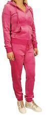 Juicy Couture Robertson Jacke & Zuma Hose Trainingsanzug Himbeere Pink Velor S