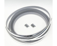 FORD CORTINA MK1 FRONT WINDSCREEN RUBBER SHINY CHROME INSERT MOULDING & 2 JOINS-