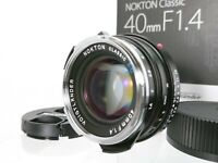 [Unused in Box] Voigtlander Nokton classic S.C 40mm f/1.4 Leica M From Japan B68