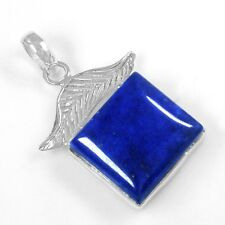 Quality Natural Lapis Design Pendant Jewelry 6.41 Grams 925 Sterling Silver High