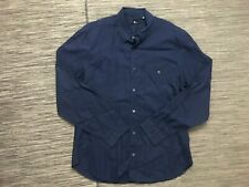 7 For All Mankind Men's Button Front Shirt XL Long Sleeve Blue Cotton Casual Top