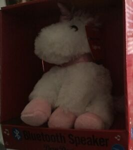 New Unicorn Bluetooth Speaker Plush Animal Dan Dee Speaker White Unicorn