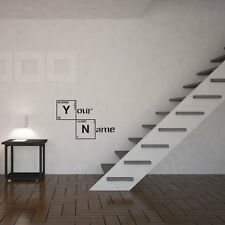 Periodic Table Personalised Name Vinyl Wall Art Decal for Home Decor / Interi...