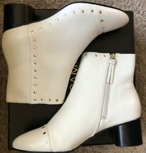 Rebecca Minkoff 'Isley' Boot/Bootie Size 8.5 White Leather NWB