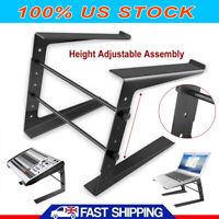Folding DJ Laptop Stand Computer Table Top PC Rack Clamp Mount Holder Adjustable