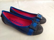 Juicy Couture New Blue Leather Party Shoes Pumps Girls Size 12 (EU 31 US 13)