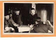 Real Photo Postcard RPPC -Boys Playing Game of Carrom