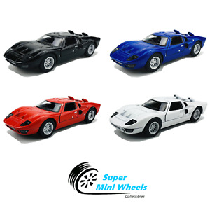"""Kinsmart 1:32 - 1966 Ford GT40 MKII - 5"""" Diecast Toy Car - 4 Colors"""