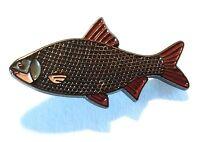 Roach Agua Dulce Juego Pez Pesca Deportiva Pescador pin Metal Chapa de Esmalte