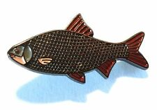 Roach Freshwater Game Fish Angling Fisherman Pin Angler Metal Enamel Badge NEW