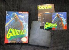 Godzilla NES Nintendo: Box and Manual Only