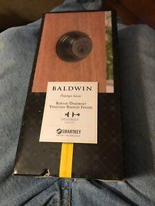 Baldwin Prestige SmartKey Venetian Bronze Single Cylinder Round Deadbolt  T75E