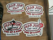4 Different Ron Jon Surf Shop - 3 One Of A Kind Cocoa Beach, Fl Sticker Decal