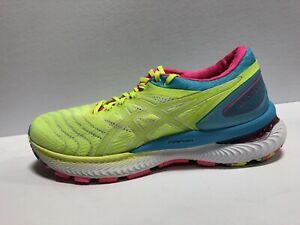 Asics Gel Nimbus 22 Womens Running Shoes Yellow Size US8 M