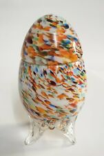 altes Murano Glas Ei - als Deckeldose zum öffnen