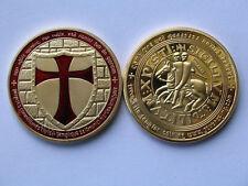 Cavalieri templari Cavalieri croce Oro Medaglia Barretta d'oro vanni. colorato