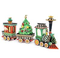 MacKenzie-Childs Christmas Train Ornament - Set of 3 - NIB