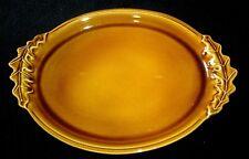 APPOLIA C603.40 Fabrique en Bretagne Autumn Brown Oak Leaf Design 15½ in Platter