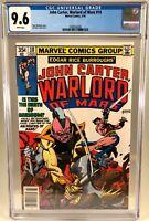 John Carter Warlord of Mars #10 CGC 9.6 NM Marvel Comics 1978 Marv Wolfman