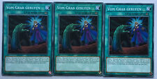 3x Vom Grab gerufen FLOD-DE065 Common Yu-Gi-Oh! Playset TOP KARTE NEU DEUTSCH NM