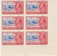 Cayman Islands George V 1d Corner Block Postage Stamps