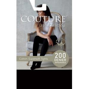 Couture Naturals 200 Denier Cotton Rich Super Soft Opaque Warm Tights