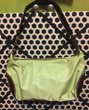 The Cutest Lime Green Lancel Paris Shoulder Nylon Handbag