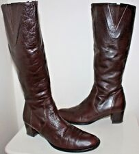 Unknown label mid-calf boots women Eur 36 US 5.5 UK 3.5 USED from Italy #416