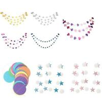 4M Paper Star Wedding Birthday Party Baby Kids Room Hanging Decorations Garland.