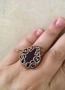 New Size 6 Barse Ring, Genuine AMETHYST w/ Copper MSRP $95