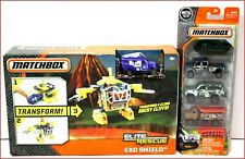 LOT 2- Matchbox Elite Rescue EXO SHIELD + 5 PACK Cars Climbs Rocky Cliff 🌟NEW🌟