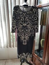 womens black and gray long dress NWT mlle gabrielle