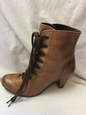 LADIES URBAN VINTAGE BROWN LEATHER ANKLE BOOTS SIZE 37 UK 4