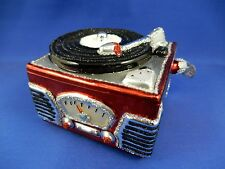 Record Player Radio Old World Christmas Glass Tree Ornament NWT 38043