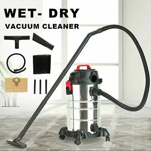 30L 4-in-1 Wet Dry Industrial Vacuum Cleaner 2000W Bagless Vac Shop Office 3.5HP
