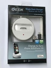 Dexim Single Dock Charger for iPhone 4 4s 3g ipod iphone 40-pin Charge and Sync
