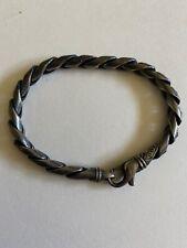 Stippled Cobra Chain Bracelet $500 David Yurman Men's Silver
