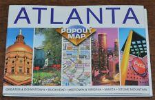 Atlanta Popout Map: Pocket Size Map with MARTA Buckhead Midtown Downtown Maps