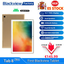 """NEW Blackview Tab8 Tablet PC 10,1"""" Android 10 4GB 64GB Dual SIM WiFi 6580mAh ORO"""