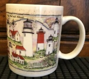 Great American Lighthouses By Donna Elias Coffee Mug Cape Cod Collectors Series