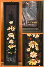 """Fred Thrasher Painting & Frame Canvas Flowers Hand Signed 11 X 49"""" ONE OF A KIND"""