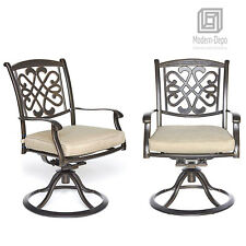 Rotating Aluminum Patio Glider Chairs Garden Backyard Outdoor Furniture Set of 2